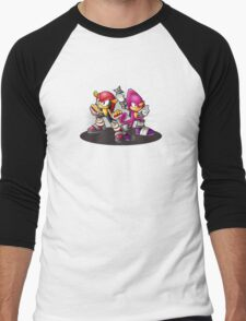 Mighty and Espio Ready for Battle Men's Baseball ¾ T-Shirt