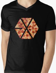 Pizza Exo Mens V-Neck T-Shirt