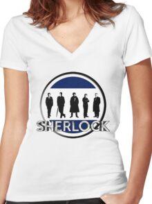 Sherlock cast Women's Fitted V-Neck T-Shirt