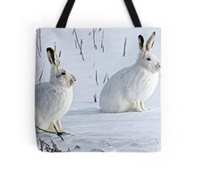 Hare There! North American Snowshoe Hare Tote Bag