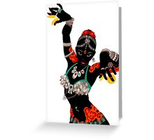 Tattooed Dancer Greeting Card