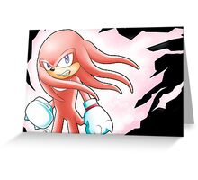 Hyper Knuckles the Echidna Greeting Card