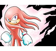 Hyper Knuckles the Echidna Photographic Print