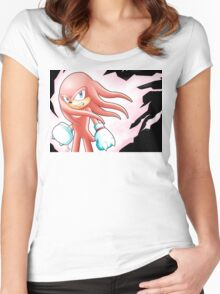 Hyper Knuckles the Echidna Women's Fitted Scoop T-Shirt
