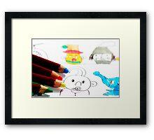Kids Doodles Framed Print