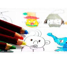 Kids Doodles Photographic Print