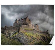 Rain Clouds Over Edinburgh Castle Poster