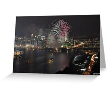 Golden Triangle Fireworks Greeting Card