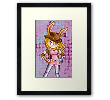 Bunnie Rabbot on Sonic Boom: Southern Style Framed Print