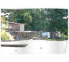 Fishing Shack At Grand Chemin, Moruga, Trinidad. Poster
