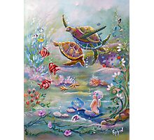 the Dance of the Sea Turtles Photographic Print