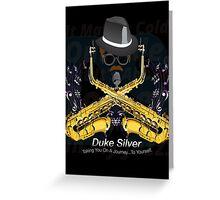 """The"" Duke Silver Greeting Card"