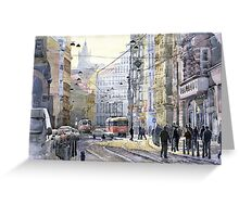 Prague Vodickova str variant Greeting Card