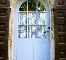blue door with brown shutters - Italy  by KSKphotography