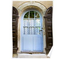 blue door with brown shutters - Italy  Poster