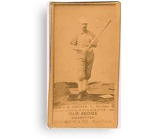Benjamin K Edwards Collection C E Hoover Chicago White Stockings baseball card portrait Canvas Print