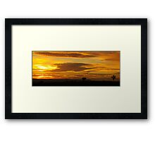 Sunrise Before The Wet Framed Print