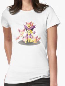 Pokemon: Mama Delcatty and her Baby Skitty Womens Fitted T-Shirt