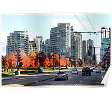 Autumn in Downtown Vancouver, Canada Poster