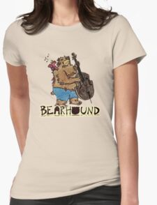 Singing Bird and Bear Womens Fitted T-Shirt