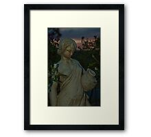 The Lady in the Garden Framed Print