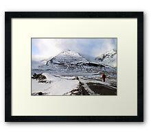 Admiring the View, Jasper, Canada Framed Print