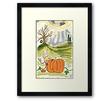 Brain Goblin: Pumpkin Patch Framed Print