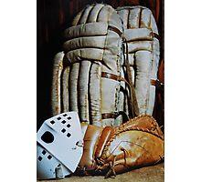 Vintage Hockey Goalie Equipment Photographic Print
