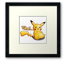 Pokemon: Pikachu Girl Framed Print