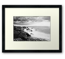 B&W Back Beach Framed Print