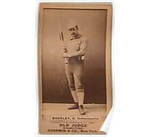 Benjamin K Edwards Collection Dick Buckley Indianapolis Hoosiers baseball card portrait Poster