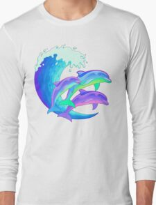 Psychedelic Dolphins Long Sleeve T-Shirt
