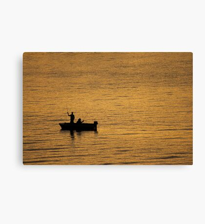 Fishing on Sydney Harbour Canvas Print