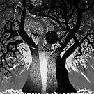Black White Tree by LESLEY B