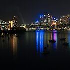 Night Lights on Sydney Harbour by Ross Campbell