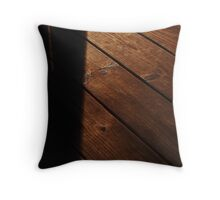 Lines In The Wood Throw Pillow