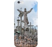 Jesus at Hill of Crosses iPhone Case/Skin