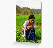 China, Gansu Greeting Card