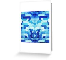 Abstract geometric triangle pattern (futuristic future symmetry) in ice blue Greeting Card