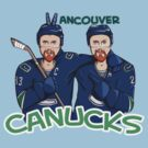 Canucks Sedins T-shirt by Sarah  Mac