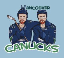 Canucks Sedins T-shirt by Sarah  Mac