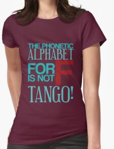F Is For Tango  Womens Fitted T-Shirt