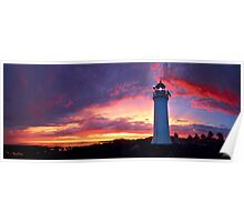 Sunset at Port Fairy Lighthouse Poster
