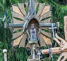 Cross at Hill of Crosses by Ilze Lucero