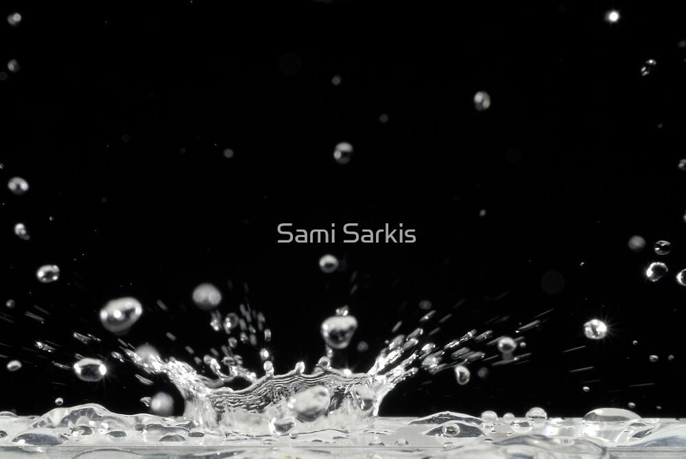 Drop of water splashing by Sami Sarkis