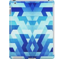 Abstract geometric triangle pattern (futuristic future symmetry) in ice blue iPad Case/Skin