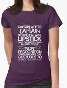 Captain Lipstick (White) T-Shirt