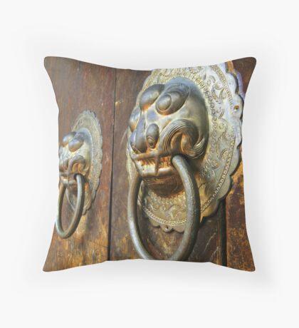 The Temple Door Throw Pillow