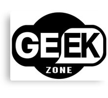 Geek Zone Canvas Print