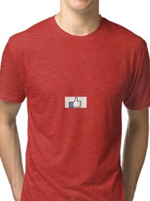 Facebook like thumbs up Tri-blend T-Shirt